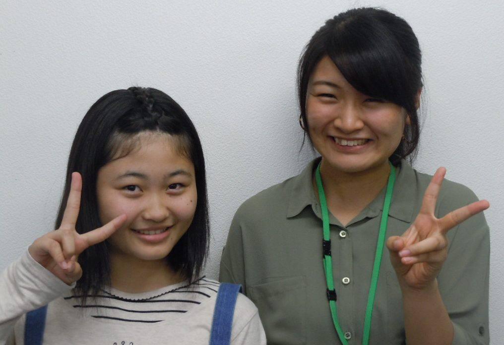 H28冬 中学3年 樋口理加さん 高橋先生