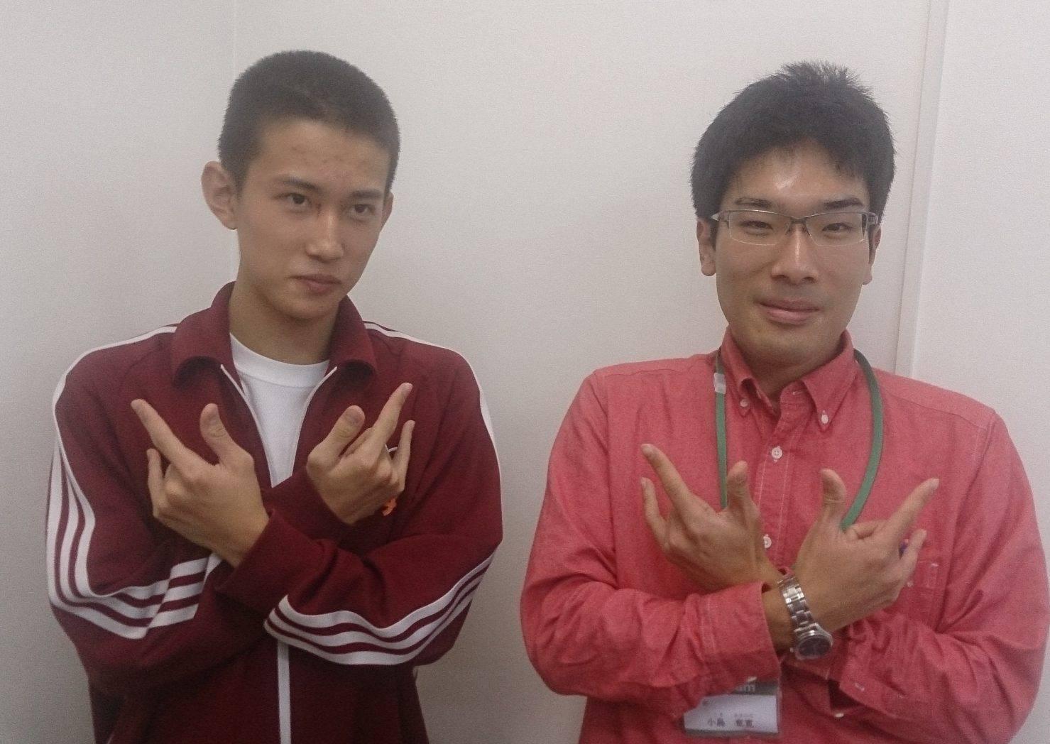 H28冬(H29春) 中学3年 村井太一くん 小島先生