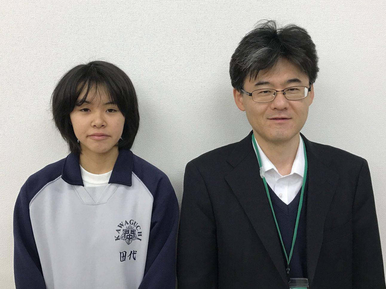 H29春 中学2年 田代詩織さん 吉野先生