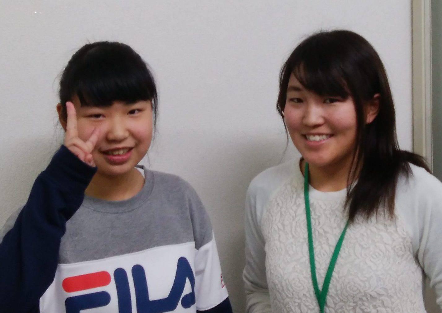 H29春 中学2年 平田沙穂さん 勝先生