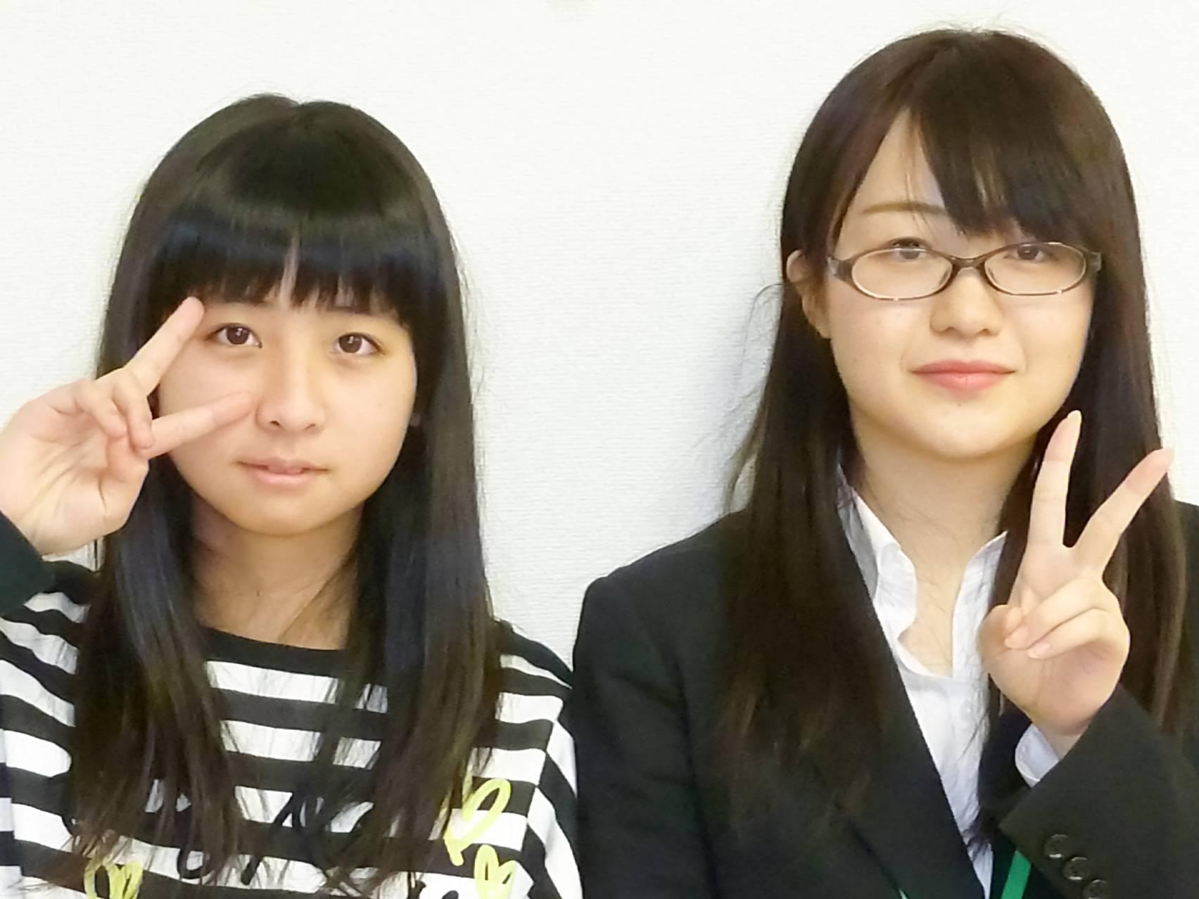 H29春 中学2年 當山すずさん 中村先生