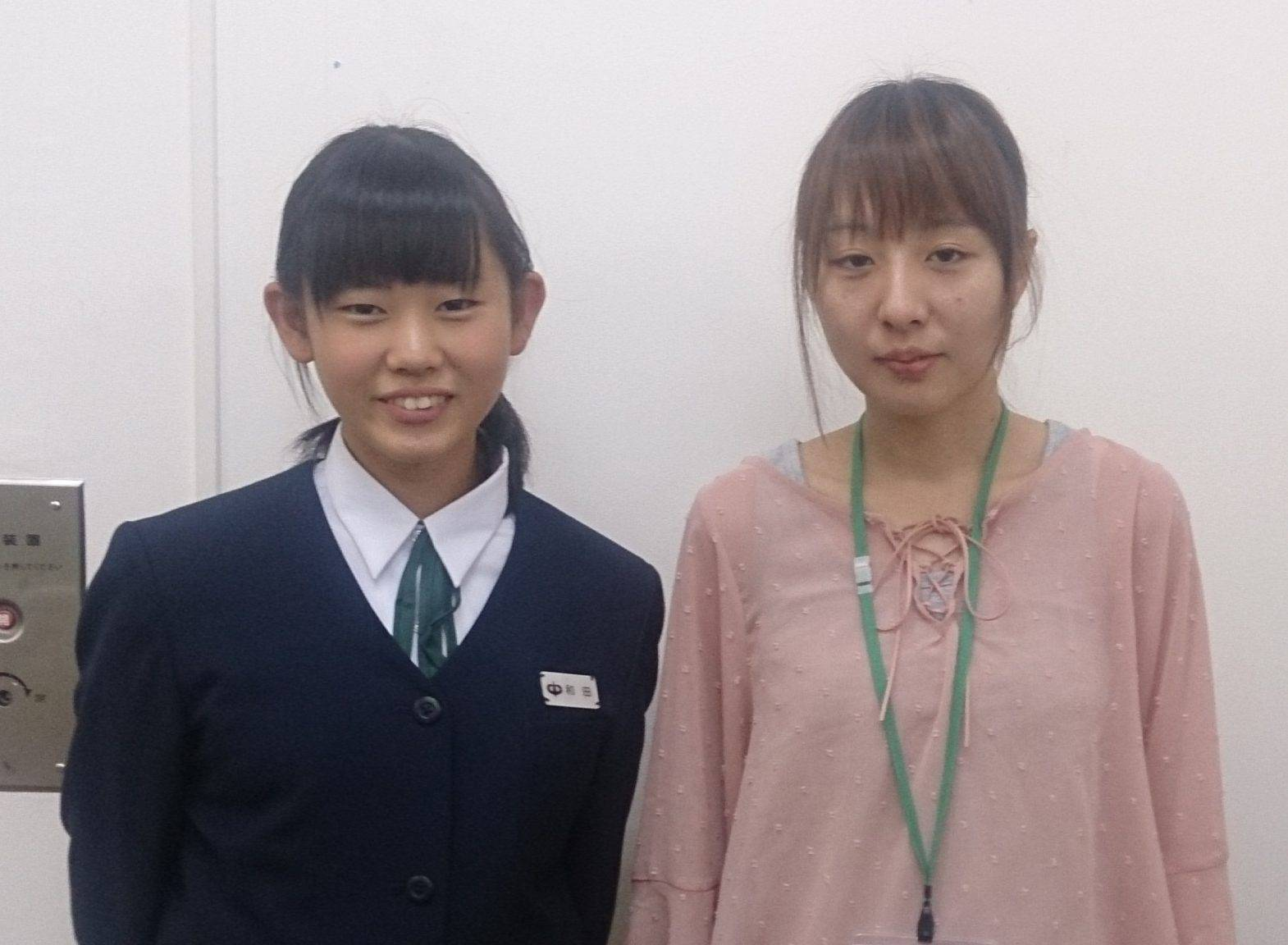 H29冬(成績はH29春) 中学3年 和田星乃さん 牧野先生