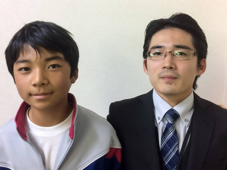 H29春 中学1年 石井秀汰くん 栗山先生