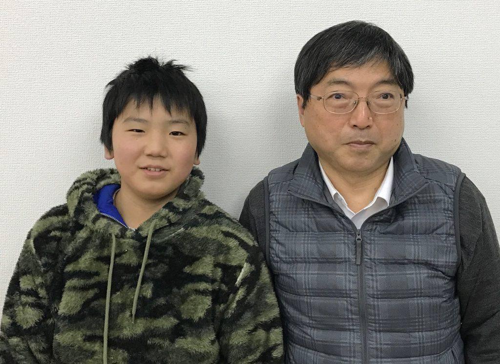 H29春 中学1年 齋藤秀輝くん 室田先生