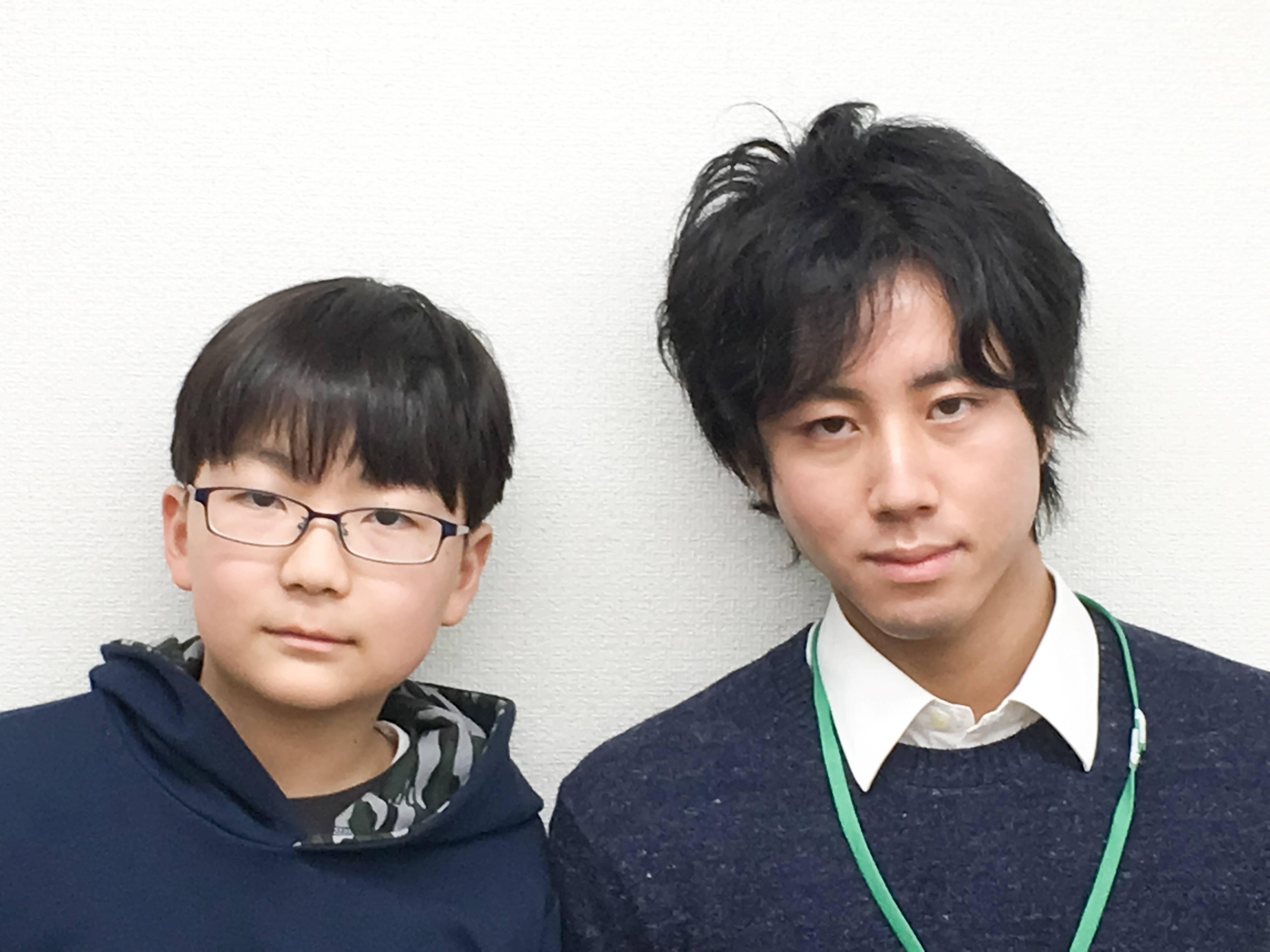 H29春 中学1年 田中敦貴くん 藪下先生