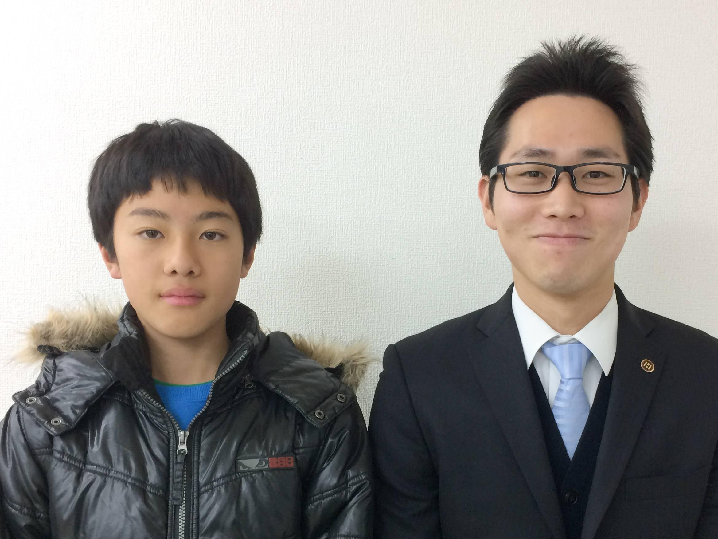 H29春 中学1年 青木優斗くん 杉本先生