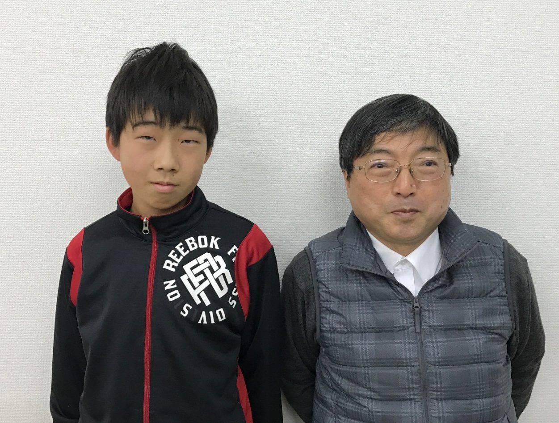H29春 中学2年 杉山知くん 室田先生