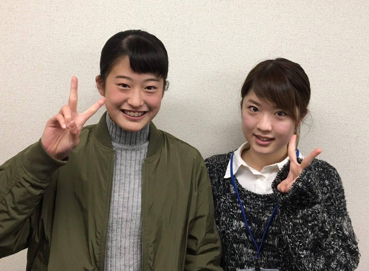 H29春 中学3年 大丸世羅さん 菊池先生