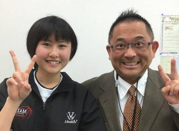 H29春 中学2年 髙橋結さん 松本先生