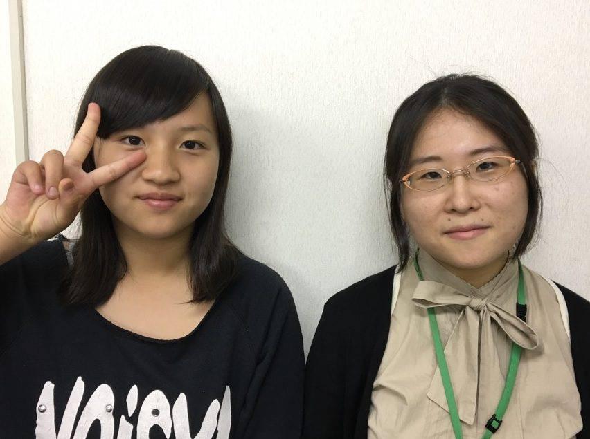 H29夏 中学2年 安部玉緒さん 生島先生