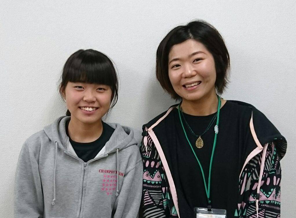 H29夏 中学3年 田津原望菜さん 奥本先生