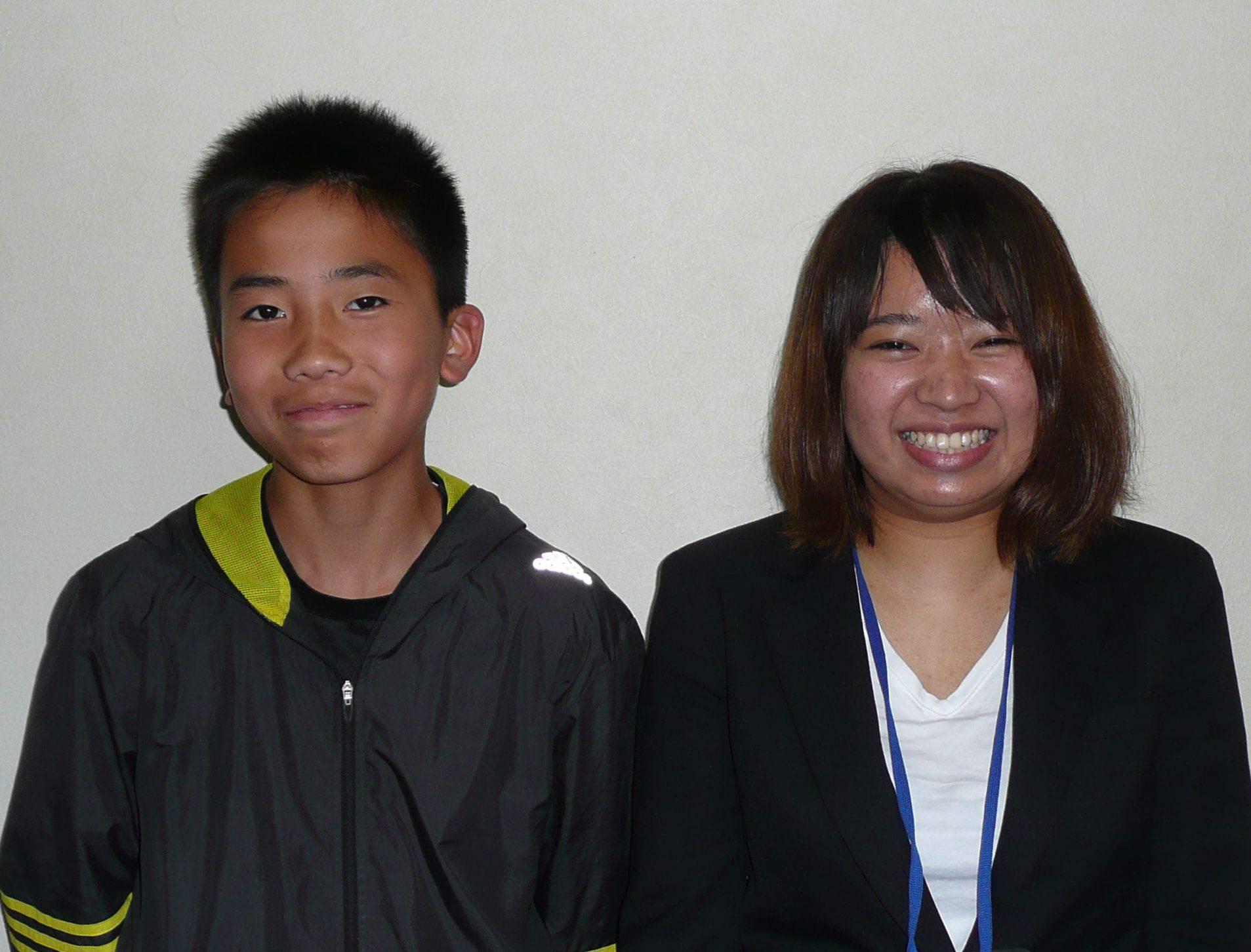 H29夏 中学3年 大六野壮琉くん 中村先生