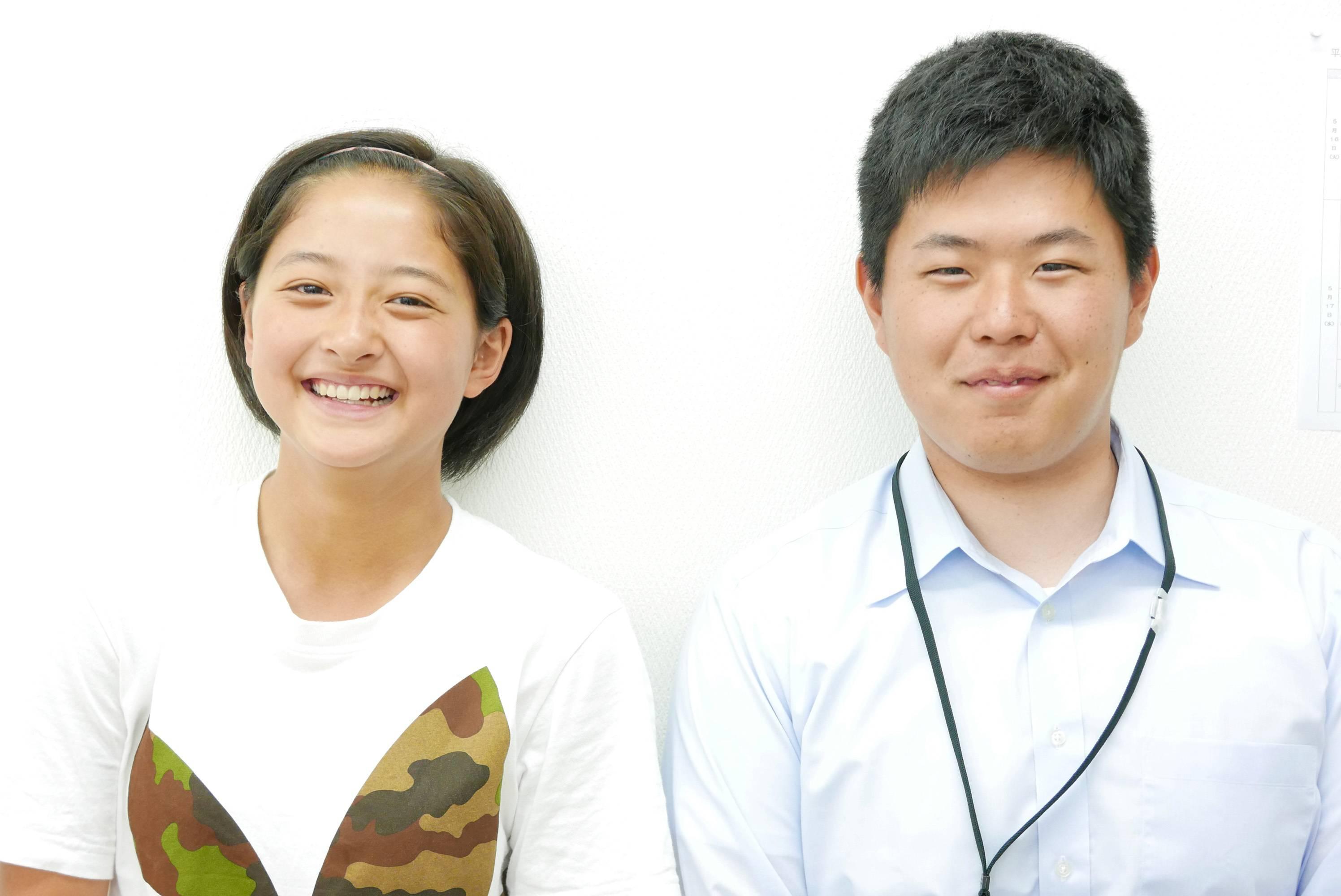 H29夏 中学3年 雨谷花音さん 小松先生