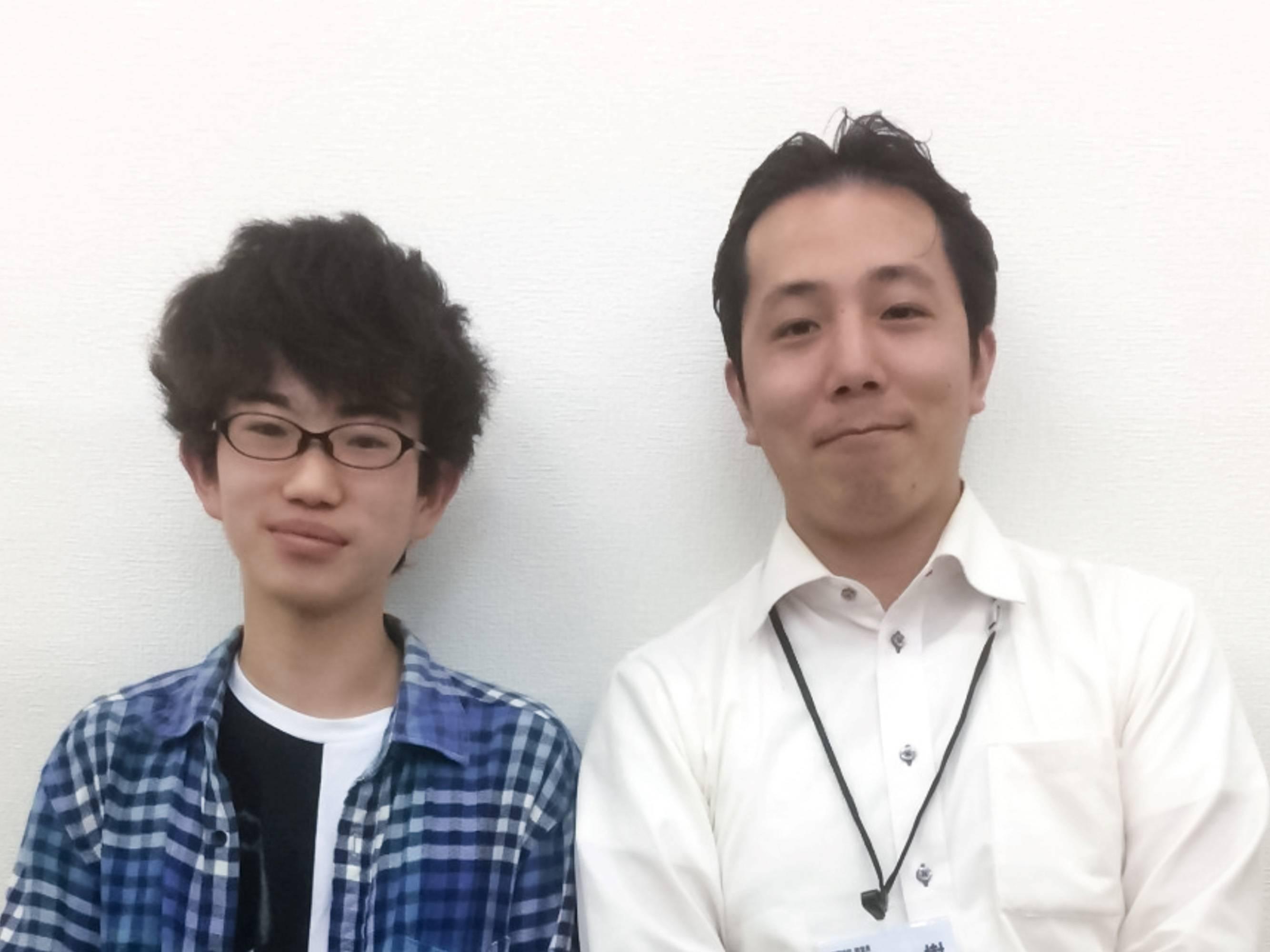 H29夏 中学2年 髙城春樹くん 浜田先生