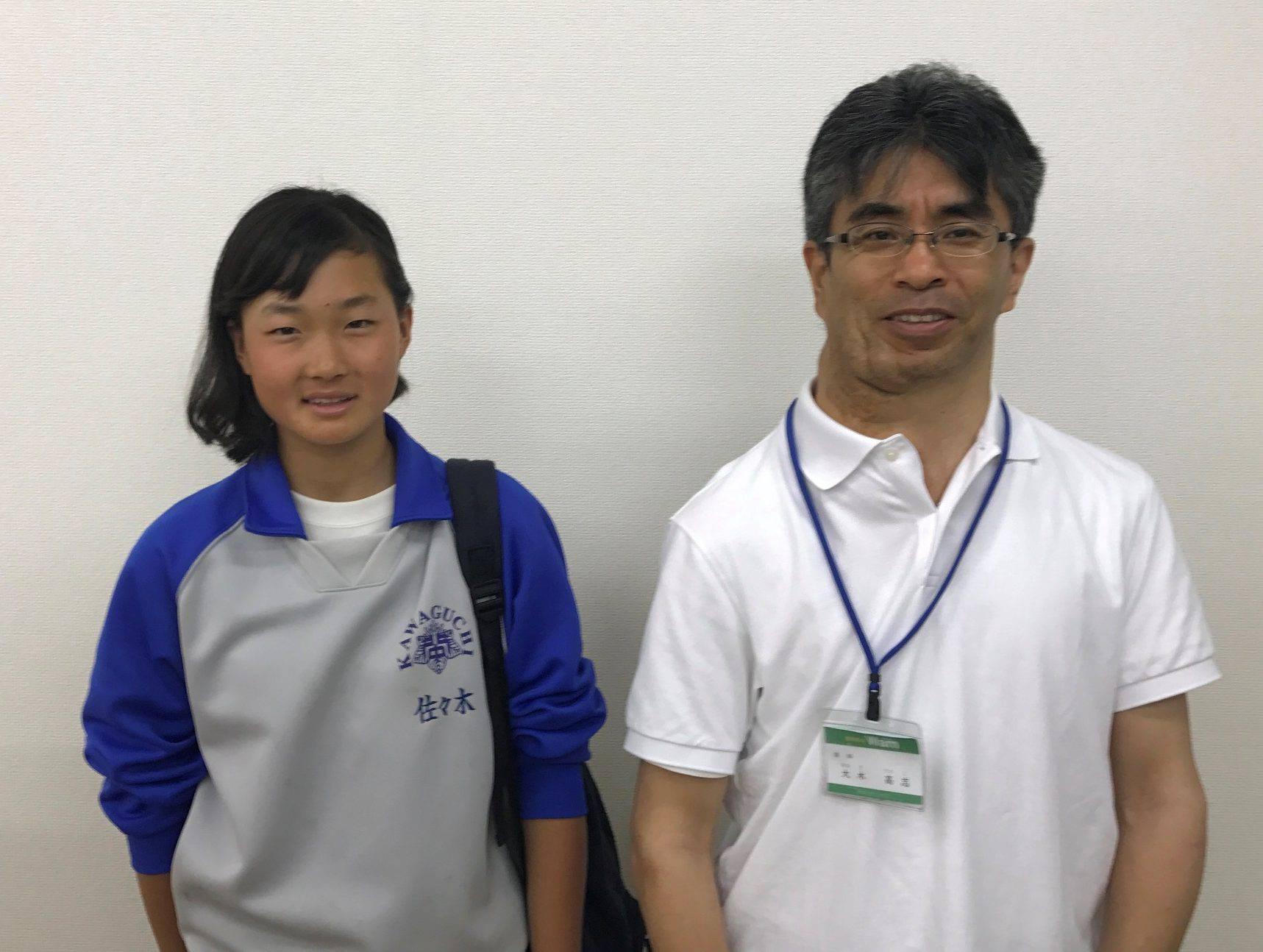 H29夏 中学2年 佐々木宥貴乃さん 大木先生