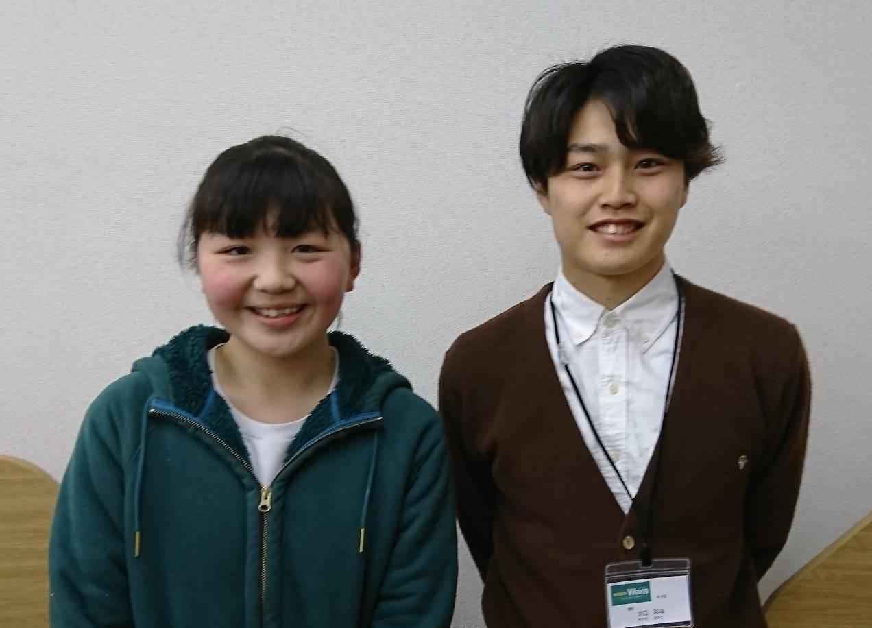 H29夏(H29春通年) 中学2年 井上莉緒さん 矢口先生
