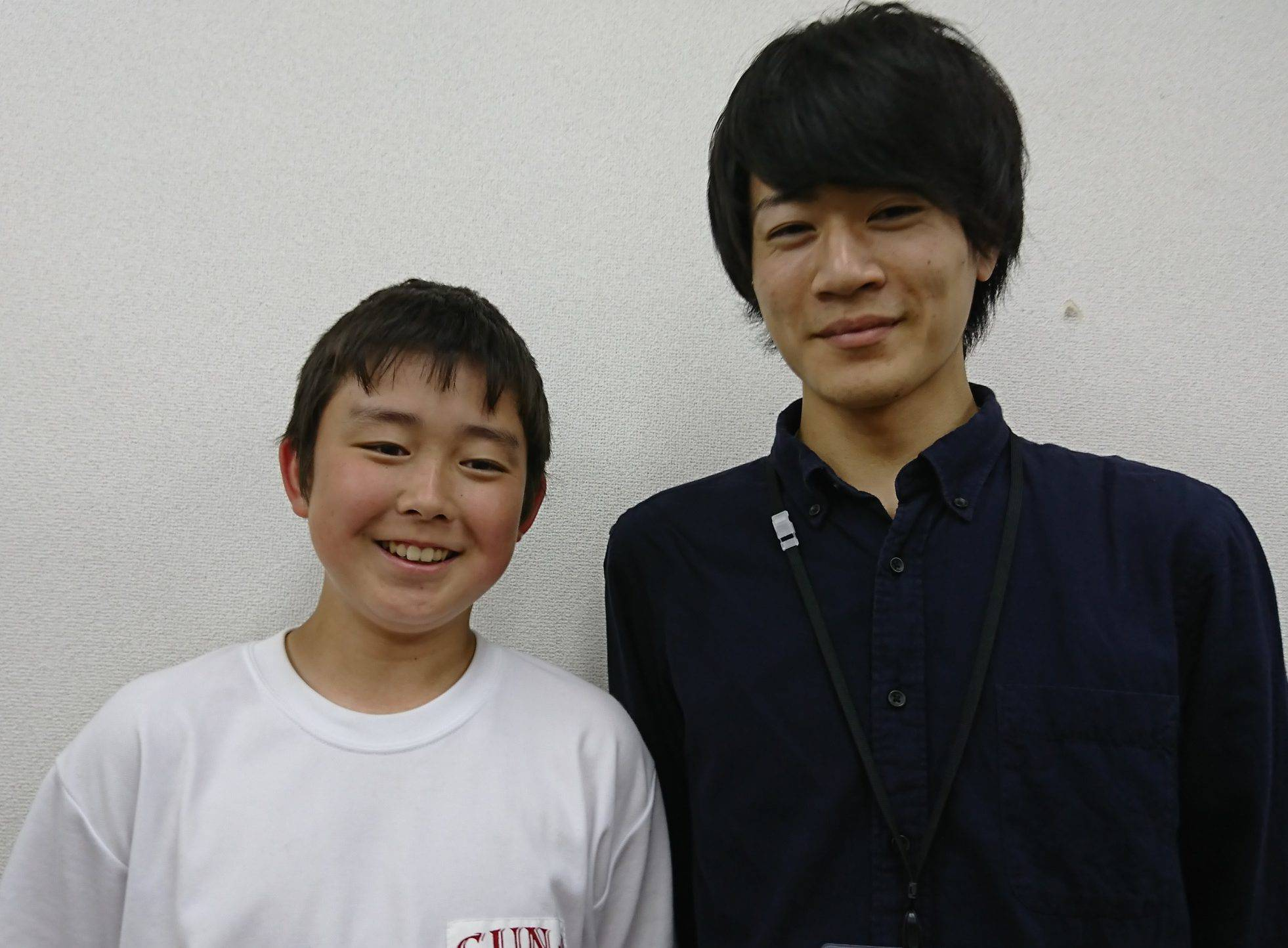 H29夏 中学1年 松岡寛人くん 唐木先生
