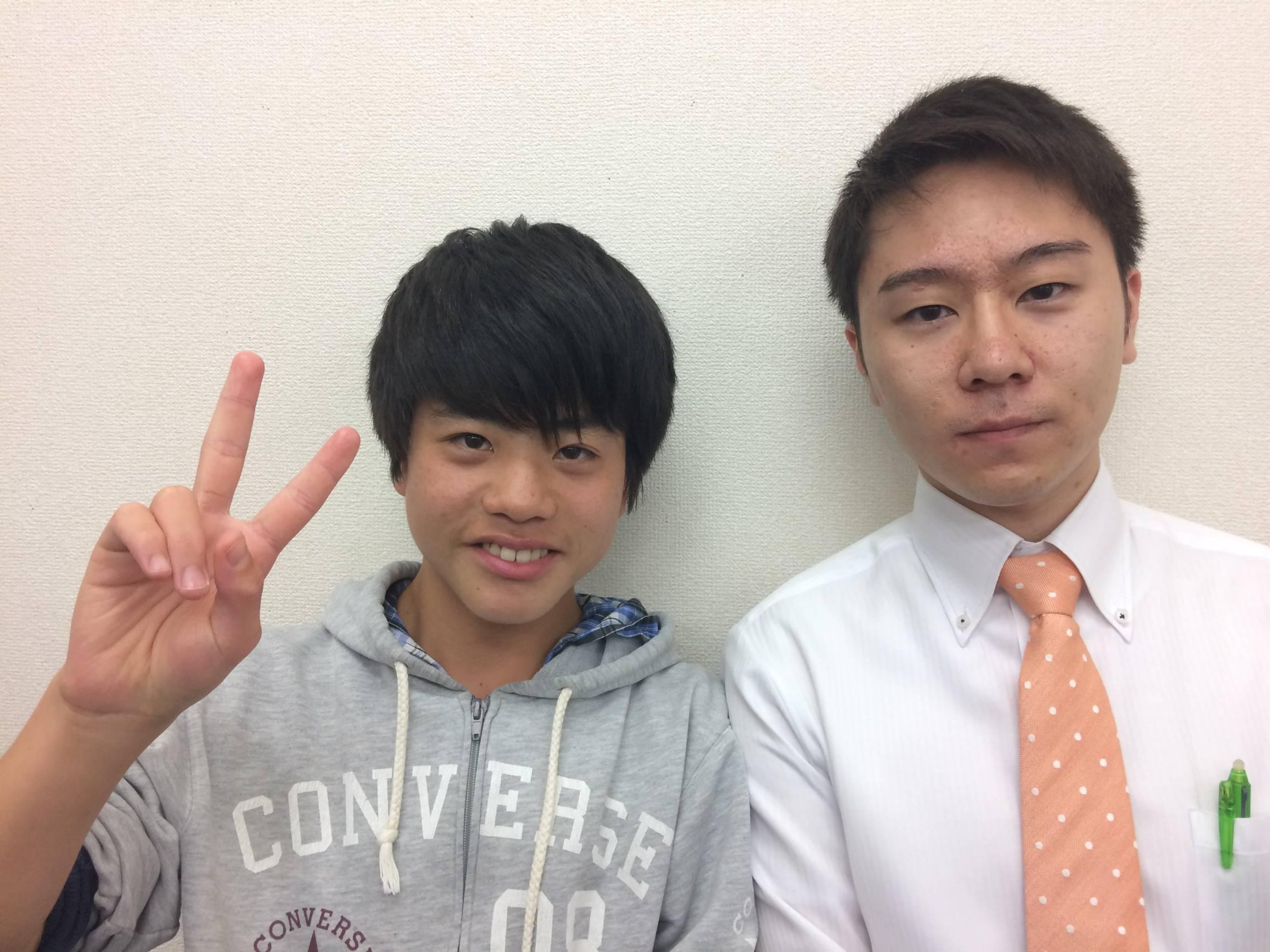 H29夏 中学2年 小菅皓太くん 高麗先生