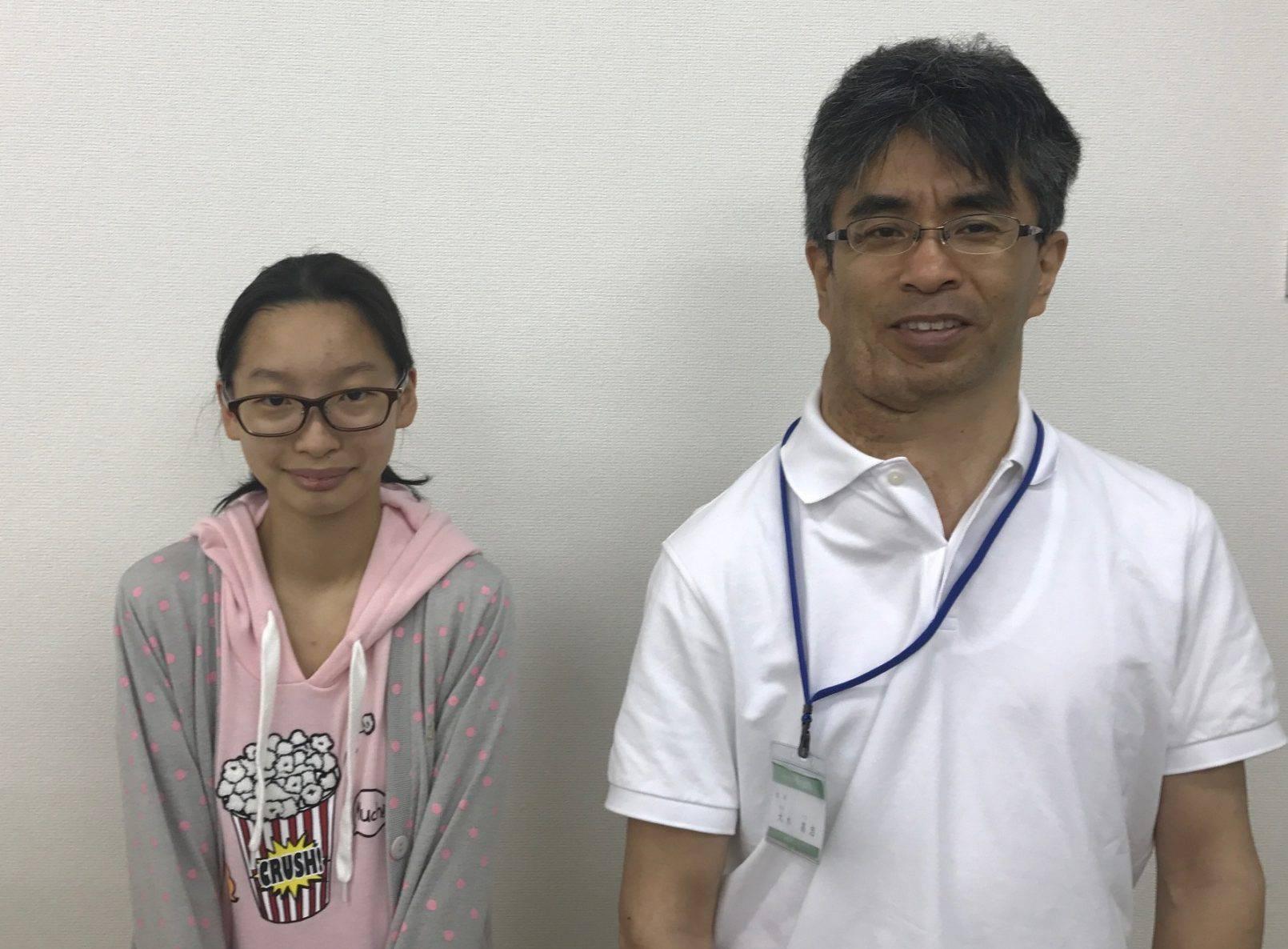 H29夏 中学3年 武井杏奈さん 大木先生