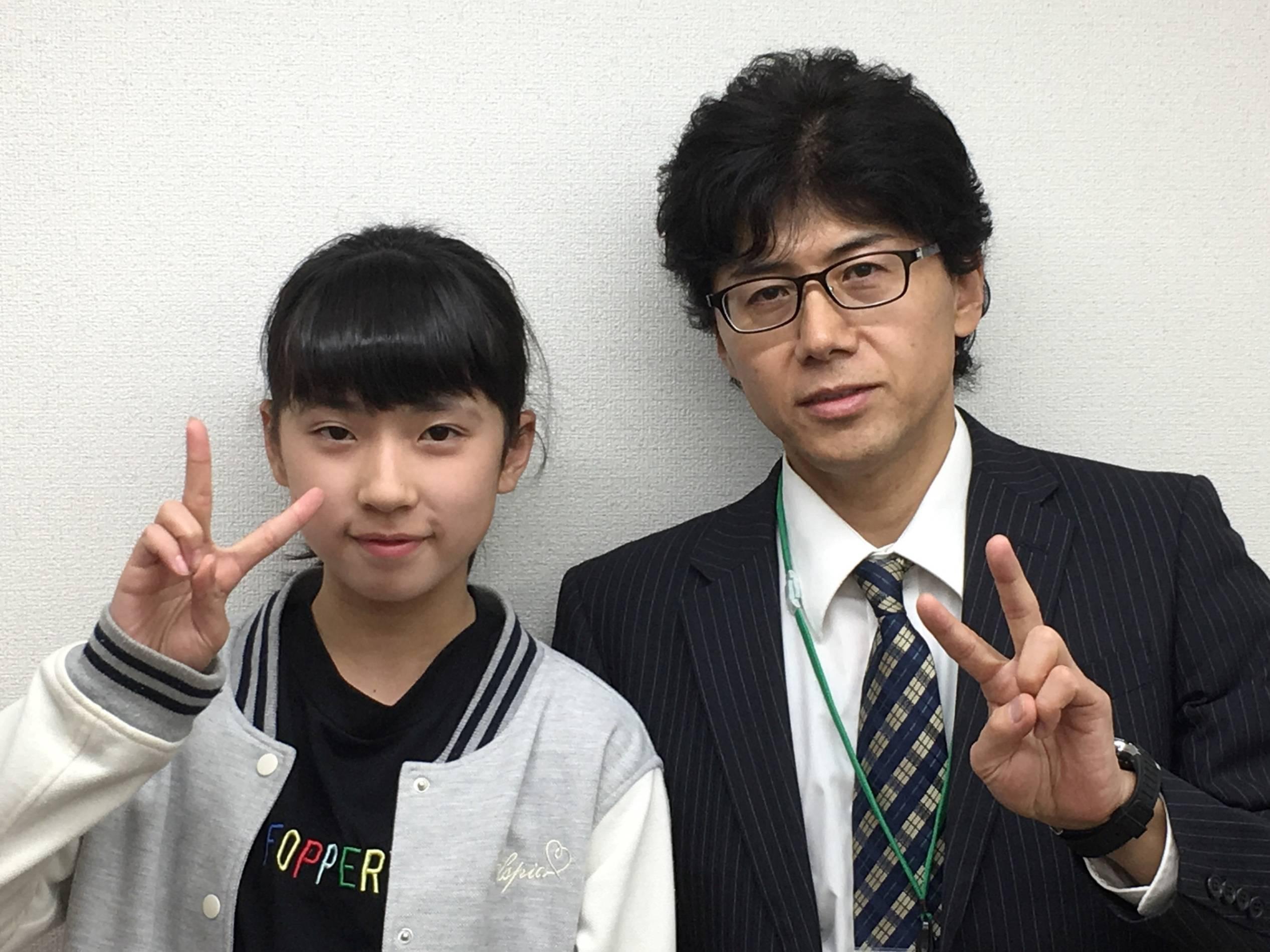 H29夏 中学2年 森屋恋さん 吉村先生