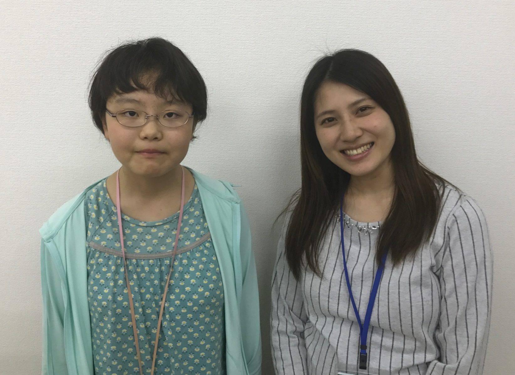 H29夏 中学2年 遠藤楓さん 石川先生