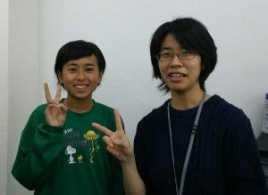 H29冬 中学3年 廣瀬朝さん 松本先生