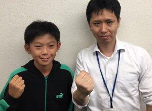 H29冬 中学2年 森口響くん 藤井先生