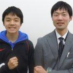 H30春 中学3年 朝木凜くん 中野先生