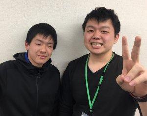 H30春 中学3年 山沖康太郎くん 亀山先生