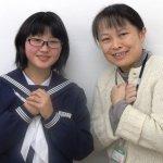 H30春 中学3年 山口惠子さん 川﨑先生