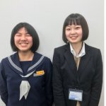 H30春 中学3年 加藤咲妃さん 西村先生