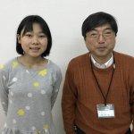H30春 中学2年 久保佳暖さん 室田先生