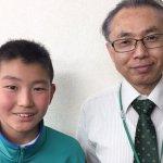 H30春 中学2年 杉本大斗くん 廣田先生