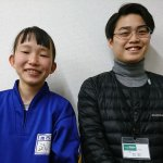 H30春 中学3年 武田花さん 矢口先生