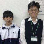 H30春 中学3年 甲田竜翔くん 吉野先生