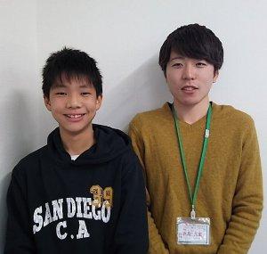 H30春 中学3年 栗山宗朋くん 浜島先生
