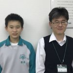 H30春 中学2年 髙橋稜杜くん 吉野先生