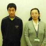 H30春 中学3年 菊元陽輝くん 布村先生