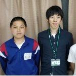 H30夏 中学2年 野島一斗くん 佐々木先生