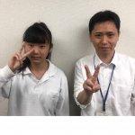 H30夏 中学3年 花谷琉奈さん 藤井先生