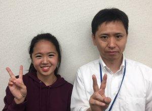 H30夏 中学3年 小野紗良さん 藤井先生