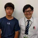 H30夏 中学3年 茂手木浩太くん 森崎先生
