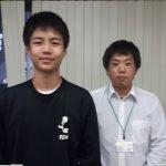 H30冬 中学3年 則岡玲央くん 秋月先生