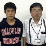 H30冬 中学1年 宮腰和磨くん 室田先生