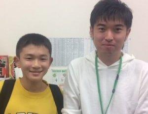 H30冬 中学2年 乾悠音くん 瀧本先生