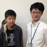 H30冬 中学3年 向井常士さん 原口先生