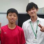 H30冬 中学2年 辻井一輝くん 伊賀先生