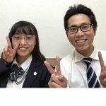 H30冬 中学3年 秋田里菜さん 杉本先生