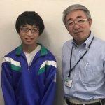 H30冬 中学3年 渡辺航希くん 柏田先生