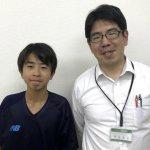 H30冬 中学2年 野田昂靖くん 安部先生